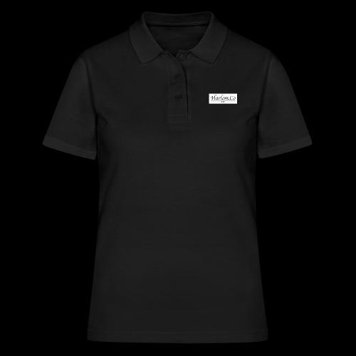 Harlem Co logo White and Black - Women's Polo Shirt