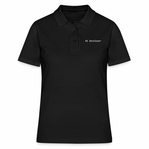 #1 Developer - White - Women's Polo Shirt