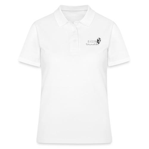 Scritta bianca, prodotto nero - Women's Polo Shirt