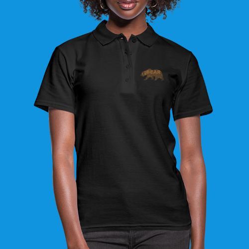 Bear Word Cloud - Women's Polo Shirt