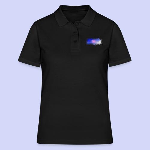 Blue lights - Female shirt - Poloshirt dame