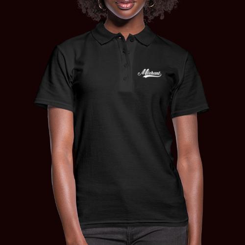 mechant_logo_white - Women's Polo Shirt