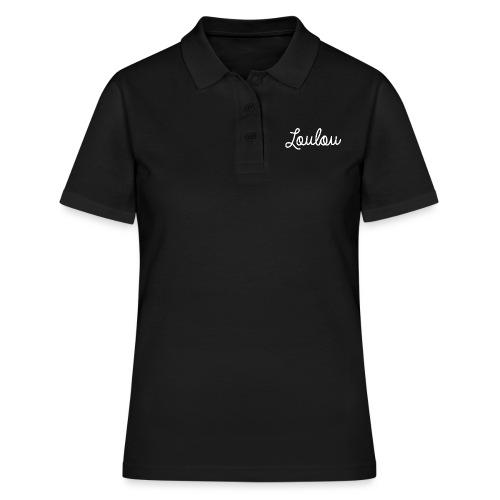 Logo-Wit - Vrouwen poloshirt