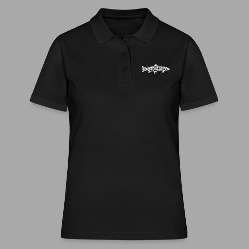 Line trout white - Women's Polo Shirt