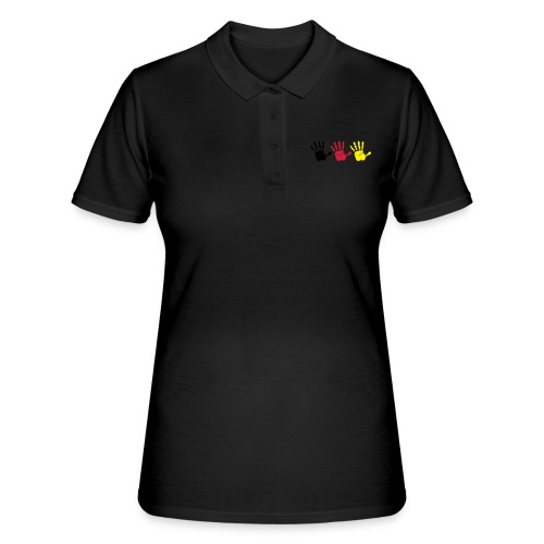 Handabdruck Trio - Frauen Polo Shirt