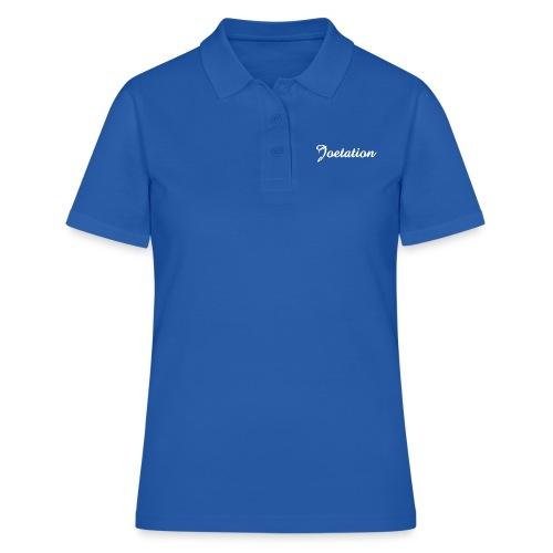 White Text Joetation Signature Brand - Women's Polo Shirt