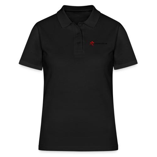 SportsNow-Logo mit schwarzer Schrift - Frauen Polo Shirt