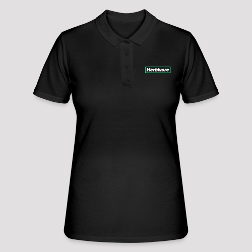 Herbivore Logo White - Women's Polo Shirt