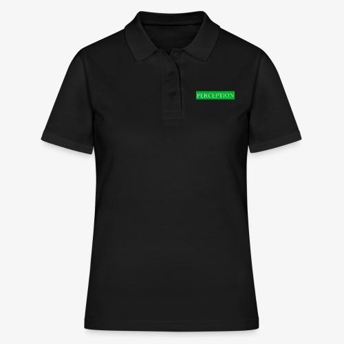 PERCEPTION CLOTHES VERT ET BLANC - Polo Femme