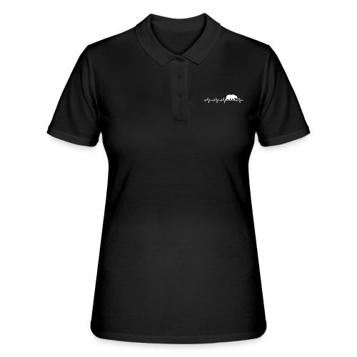 Herzschlag EKG Bär Frequenz Grizzly Shirt Geschenk - Frauen Polo Shirt