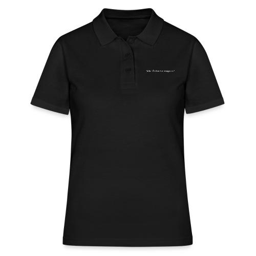 Ju jutsu förslag 2 version 1 vit text - Women's Polo Shirt