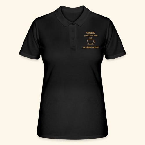 Jeg vågner for kaffe - Women's Polo Shirt