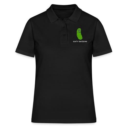 8-bit Pickle (Dark T-Shirt) - Women's Polo Shirt