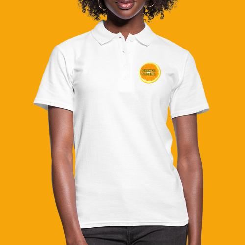 Orange_Logo_White - Women's Polo Shirt