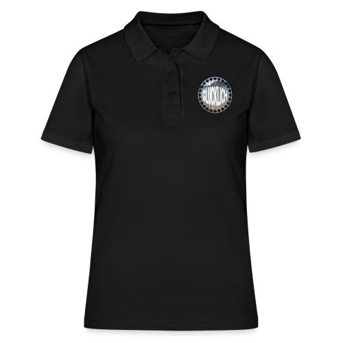 LIMITED GLÜCKLICH Schriftzug - Frauen Polo Shirt