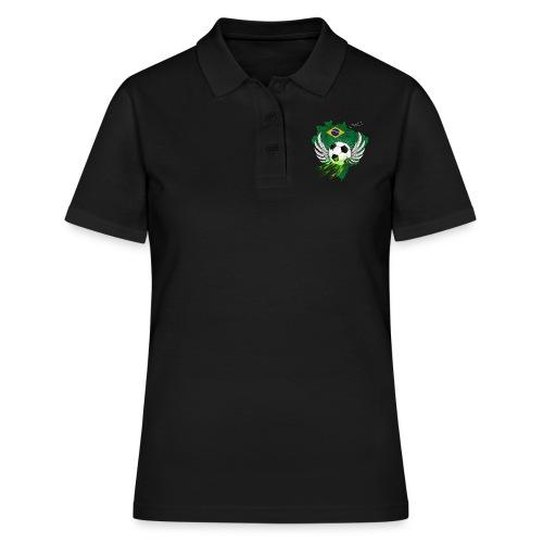 Fußball mit Brasilien Flage - Frauen Polo Shirt