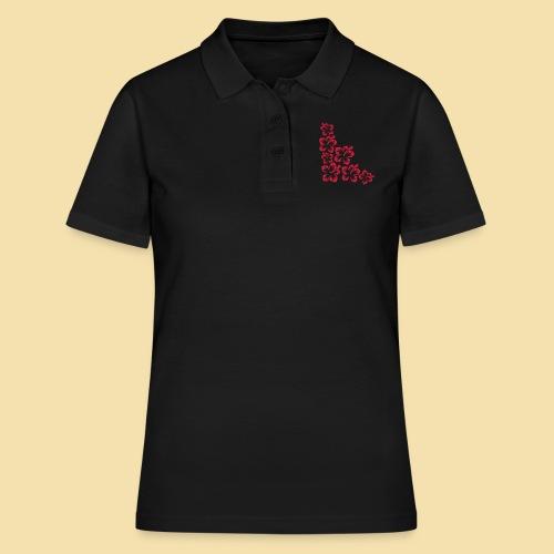 Hibiskus Blueten Ecke - Frauen Polo Shirt