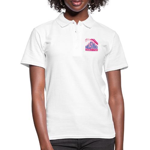 Helsinki2 pink blue - Women's Polo Shirt