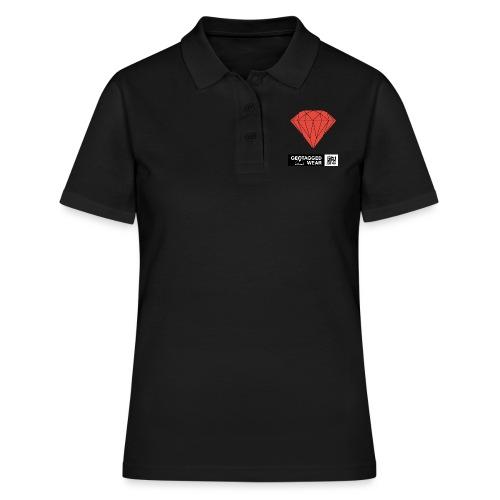 Unisex Diamond Pantone Cherry Tomato - Frauen Polo Shirt