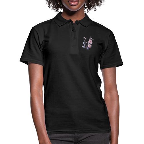 Schlichte Blumen - Frauen Polo Shirt
