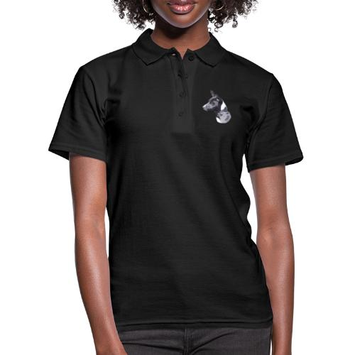 basenji black - Women's Polo Shirt