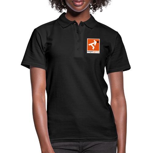 insight quadrato con lettering - Women's Polo Shirt