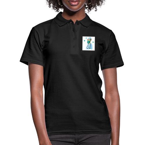 Cartoon Doktor Geschenkidee gezeichnet - Frauen Polo Shirt