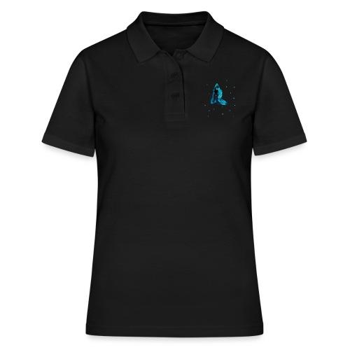 Joga asany malowane ręcznie akwarelą - Women's Polo Shirt