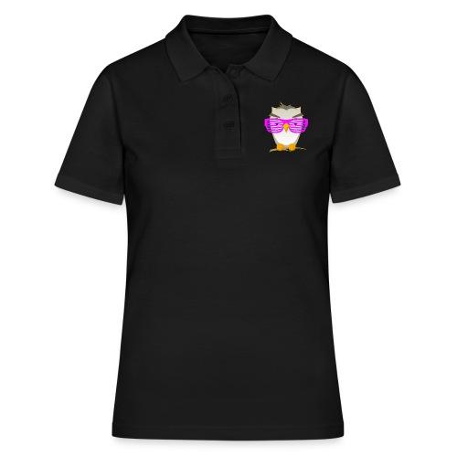 Eule Wald Vogel coole Nerdbrille Geek Big Bang Uhu - Women's Polo Shirt