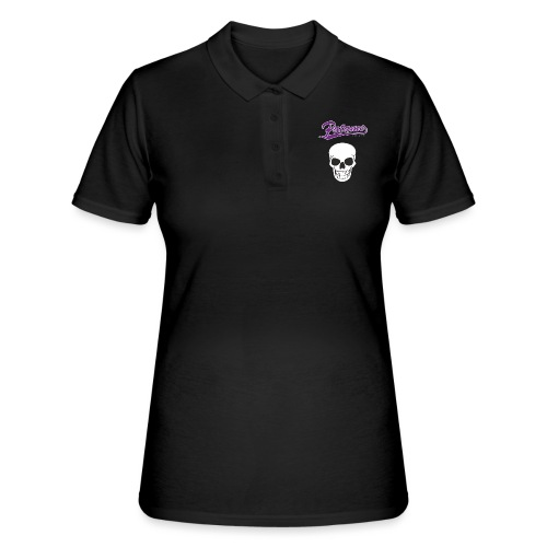 Patame Purple White Skull - Frauen Polo Shirt
