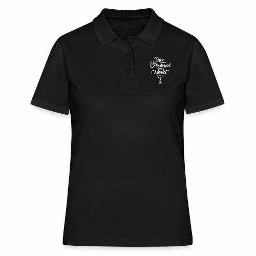 I LOVE MY HUSBAND AND MERLOT - Women's Polo Shirt