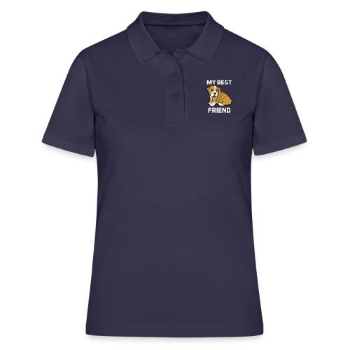 My Best Friend - Hundewelpen Spruch - Frauen Polo Shirt