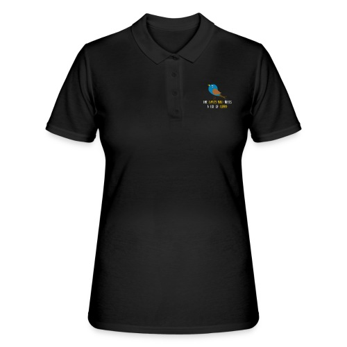 The early bird needs a lot of COFFEE v1 - Frauen Polo Shirt