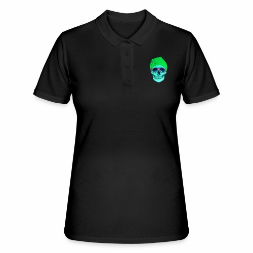 POP SMILING SKULL - Women's Polo Shirt