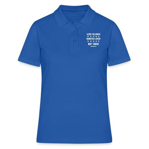 Jesus follower samoyed lover nap taker - Women's Polo Shirt