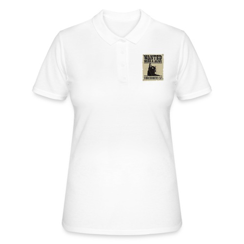 Wanted dead and alive schrodinger's cat - Women's Polo Shirt