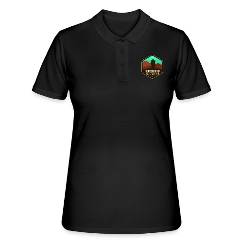 I'd Rather Be Backpacking - Frauen Polo Shirt