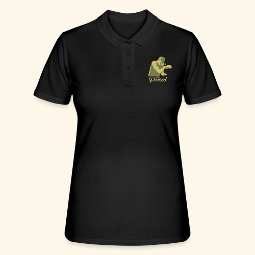 Bleiben Sie fokussiert Tischtennis-Champ - Frauen Polo Shirt