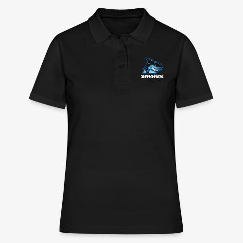 SHARKNATION / White Letters - Frauen Polo Shirt
