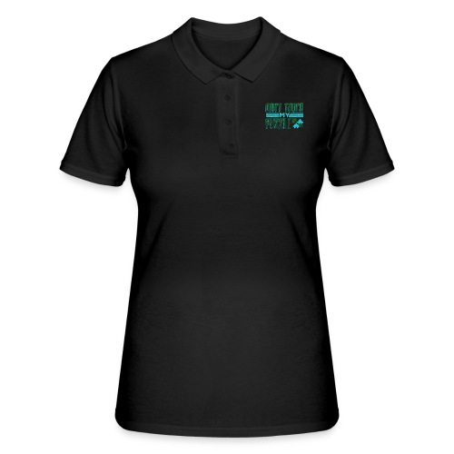 Fun Puzzle Lover Gift Don't Touch my Puzzle - Women's Polo Shirt