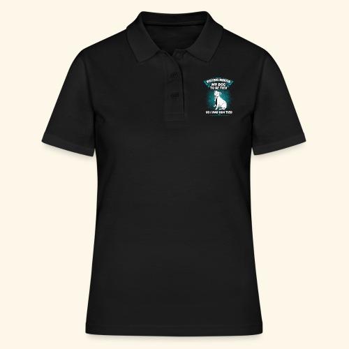 Lustiges Hunde Schlips T-Shirt - Frauen Polo Shirt