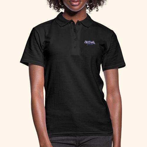 Mettigel T Shirt Design Heavy Metal Schriftzug - Frauen Polo Shirt