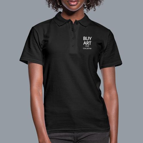 BUY ART NOT COCAINE (blanco) - Camiseta polo mujer