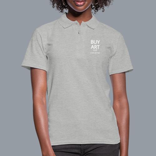 BUY ART NOT COCAINE (blanco) - Camiseta polo mujer
