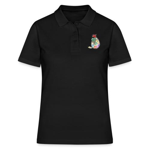 Punk Graffiti Bebe Schildkröte / Baby Dino Turtle - Frauen Polo Shirt