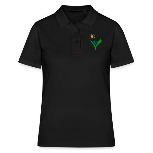 Ein Logo geht um die Welt - Frauen Polo Shirt
