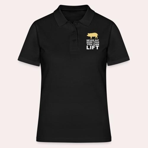 Nunca comas más de lo que puedas levantar - Women's Polo Shirt