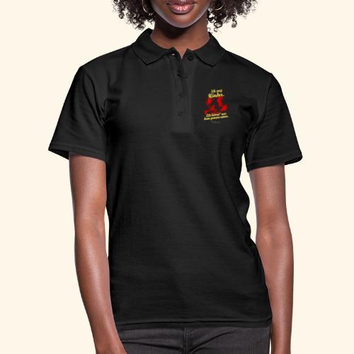 Sprüche Design Ich mag Kinder Hexe auf Besenstiel - Frauen Polo Shirt