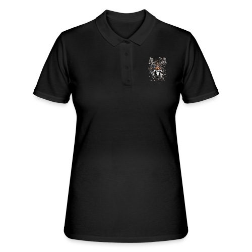 Deer Unicorn Flowers - Women's Polo Shirt