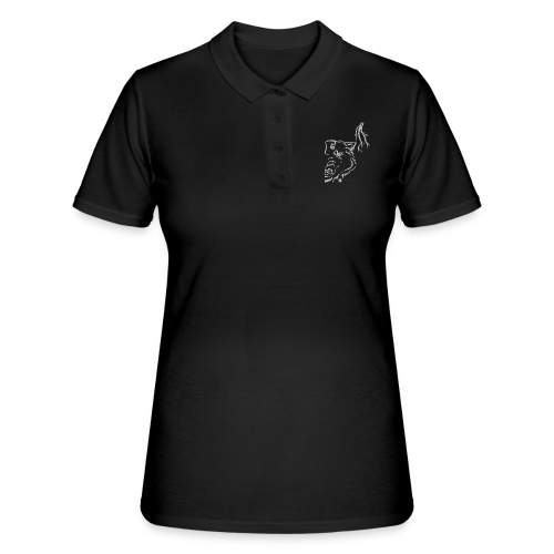 Silver Thunder Wolf Tribal - Frauen Polo Shirt